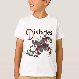ステンドグラスの蝶2糖尿病 Tシャツ