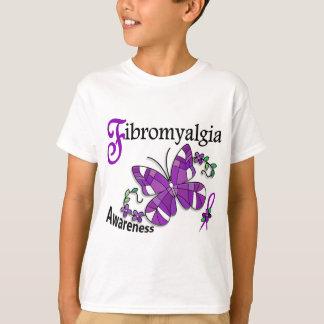 ステンドグラスの蝶2線維筋痛 Tシャツ