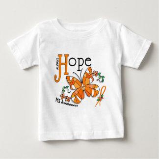 ステンドグラスの蝶MS ベビーTシャツ