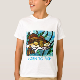 ステンドグラスの魚 Tシャツ