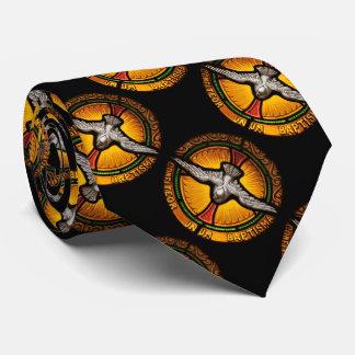 ステンドグラスの鳩 ネクタイ