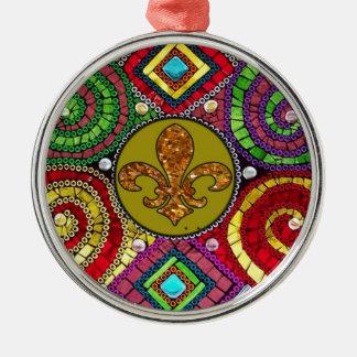 ステンドグラスの(紋章の)フラ・ダ・リの抽象芸術 メタルオーナメント