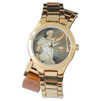 ステンドグラスのJustice Portrait威厳のあるな女性 腕時計