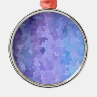 ステンドグラスを通した薄紫及びLavendar メタルオーナメント