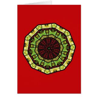ステンドグラスビジネスクリスマスカードのテンプレート カード