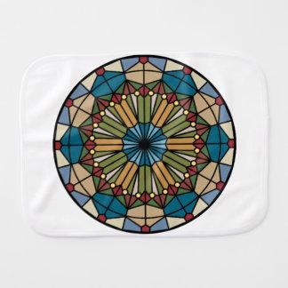 ステンドグラスモダンな幾何学的なパターンデザイン バーブクロス