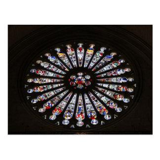 ステンドグラス教会バラ窓 ポストカード