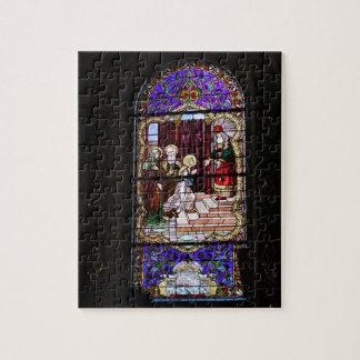ステンドグラス教会モントリオールカナダのパズル ジグソーパズル