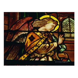 ステンドグラス窓の飛んだ天使 ポストカード