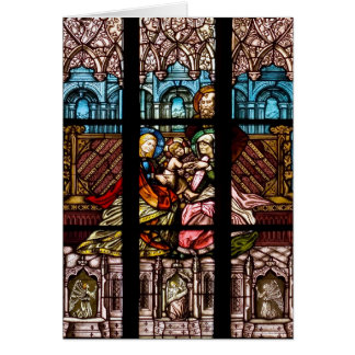 ステンドグラス窓 カード