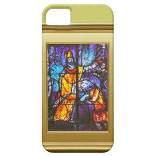 ステンドグラス窓、馬上の騎士 iPhone SE/5/5s ケース