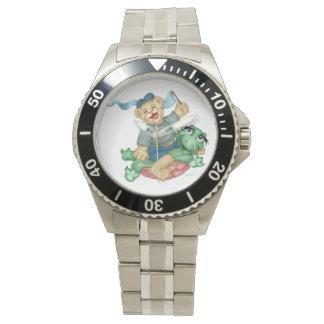 ステンレス製子供のためのカメくまの漫画ショー 腕時計