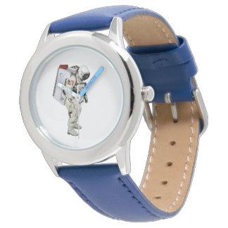 ステンレス製鋼鉄青腕時計のための宇宙飛行士のイメージ 腕時計