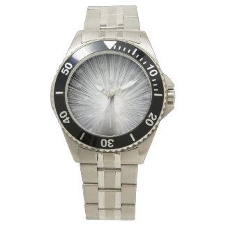 ステンレス鋼の腕時計の白の孔雀 腕時計