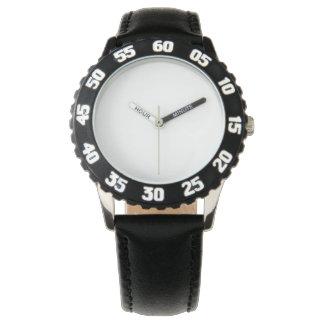 ステンレス鋼の黒の腕時計、調節可能な斜面 腕時計