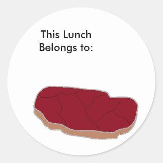 ステーキは、この昼食に属します: ラウンドシール