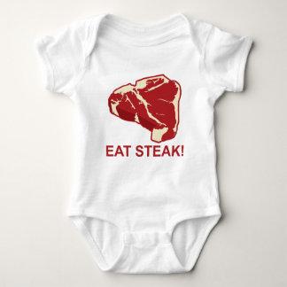 ステーキを食べて下さい ベビーボディスーツ