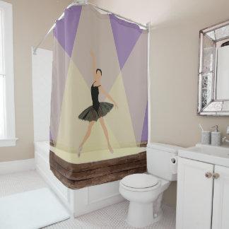 ステージのシャワー・カーテンのヒスパニックのバレリーナ シャワーカーテン