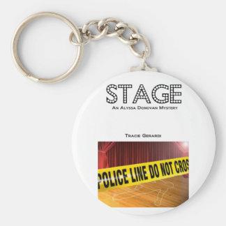 ステージの表紙の鍵の時計入れ キーホルダー