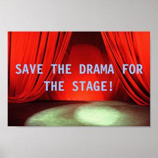 ステージポスターのための戯曲を救って下さい ポスター