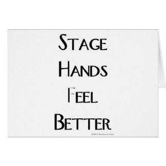 ステージ手はよりよく感じます カード