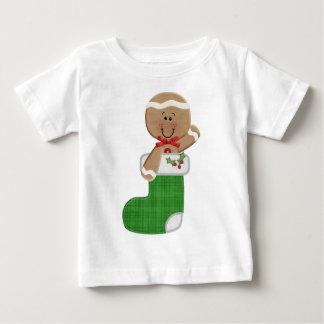 ストッキングのジンジャーブレッドマン ベビーTシャツ