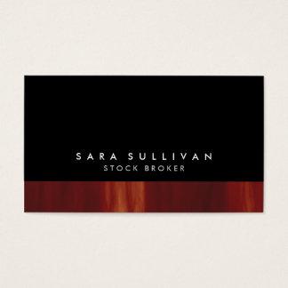 ストックブローカーのはっきりしたな黒の抽象芸術の日没の勾配 名刺