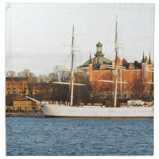 ストックホルムで航海します、スウェーデン ナプキンクロス