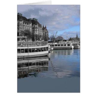 ストックホルムの水辺地帯カード カード
