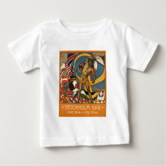 ストックホルムはスウェーデンのヴィンテージを遊ばします ベビーTシャツ