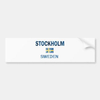 ストックホルムスウェーデンのデザイン バンパーステッカー