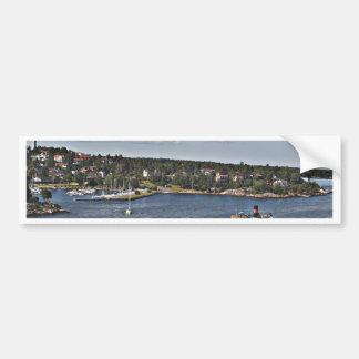 ストックホルムスウェーデンの港 バンパーステッカー