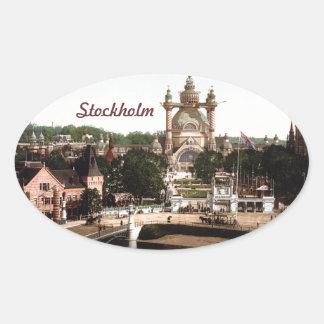 ストックホルムスウェーデン 楕円形シール