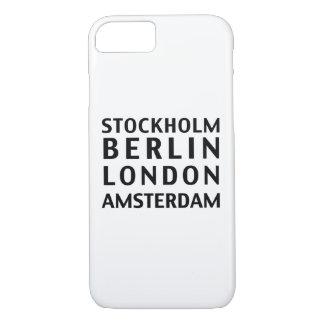 ストックホルムベルリンロンドンアムステルダムの例 iPhone 8/7ケース