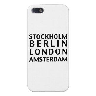 ストックホルムベルリンロンドンアムステルダムの例 iPhone SE/5/5sケース