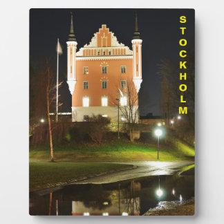 ストックホルム、スウェーデンの中世城 フォトプラーク