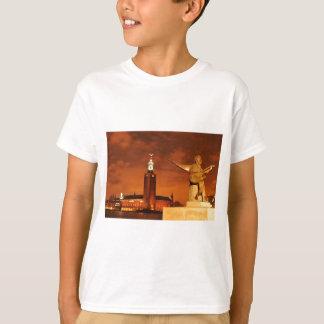 ストックホルム、夜のスウェーデン Tシャツ