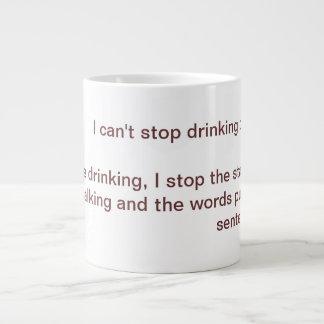 ストップことができません ジャンボコーヒーマグカップ