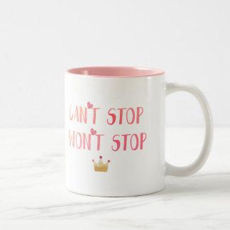 """""""ストップ""""やる気を起こさせるなマグをストップことができません ツートーンマグカップ"""