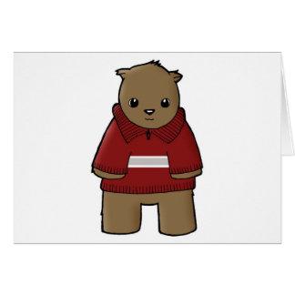 ストライブ柄jpegが付いているセーターのwombat カード