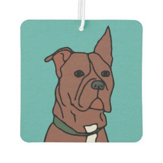 ストライプおよび自由の救助犬の漫画 カーエアーフレッシュナー