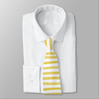 ストライプか調節可能なPixDezinesの黄色い水彩画 オリジナルネクタイ