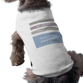 ストライプなパターンカスタムなペット衣類 ペット服
