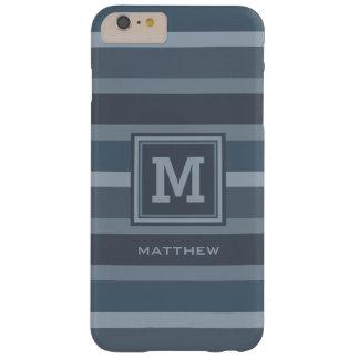 ストライプなパターンカスタムなモノグラムのケース BARELY THERE iPhone 6 PLUS ケース