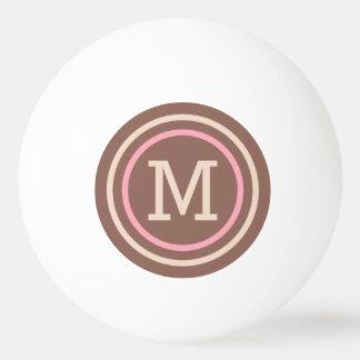 ストライプなパターンカスタムなモノグラムのピンポン球 卓球ボール