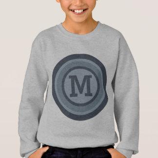ストライプなパターンカスタムなモノグラムのワイシャツ及びジャケット スウェットシャツ