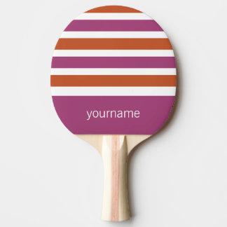 ストライプなパターンカスタムなモノグラムの卓球ラケット ピンポンラケット