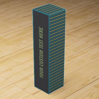 ストライプなパターンカスタムのワイン用化粧箱 ワインギフトボックス