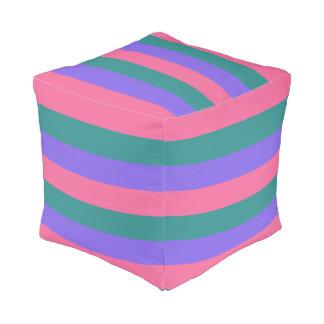 ストライプなパターンカスタムのpouf プーフ