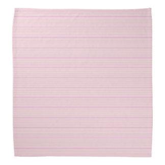 ストライプなパターン2調子のピンクのクリーム バンダナ